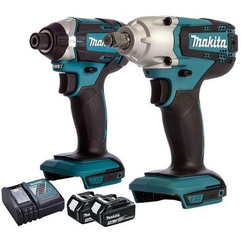 Makita 18V Impact Driver + Impact Wrench + 2 x 3Ah Batteries + Charger:18V