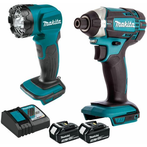 Makita 18v Impact Driver + Torch With 2 x 3.0Ah Batteries + Charger:18V