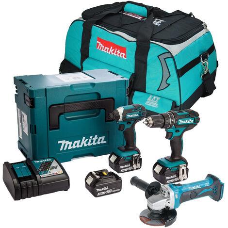 Makita 18V LXT 3 Piece Cordless Kit with 3x 3.0Ah Batteries
