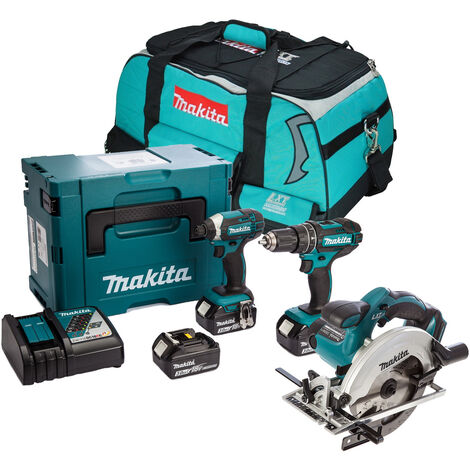 Makita 18v LXT Cordless 3 Piece Kit with 3 x 3.0Ah Batteries