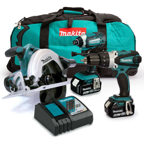 Makita 18V Triple Kit with 2 x 5.0Ah Batteries and Charger