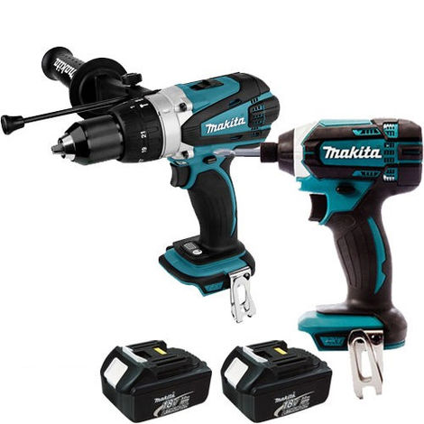 Makita 18v Twin Pack Combi Drill & Impact Driver + 2 x 3.0Ah Batteries