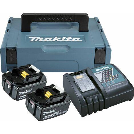 Makita 197624-2 18 V Juego de Baterías (2x 5.0Ah) en Mbox
