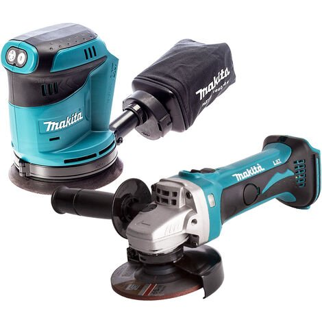 Makita 2 Piece 18V LXT 125mm Orbital Sander & Angle Grinder Body Only
