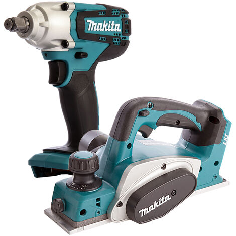 Makita 2 Piece 18V LXT 82mm Planer & Impact Wrench Body Only