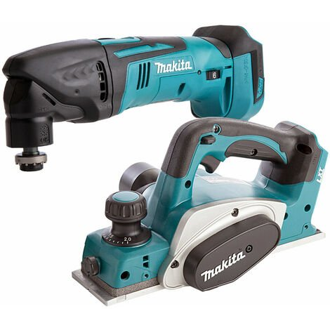 Makita 2 Piece 18V LXT 82mm Planer & Multitool Cutter Body Only