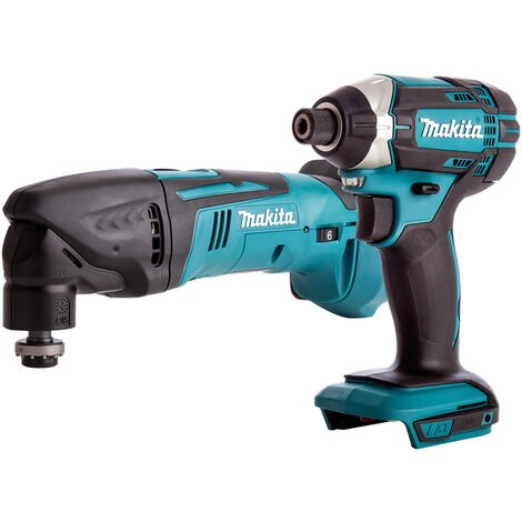 Makita 2 Piece 18V LXT Impact Driver & Multitool Cutter Body Only