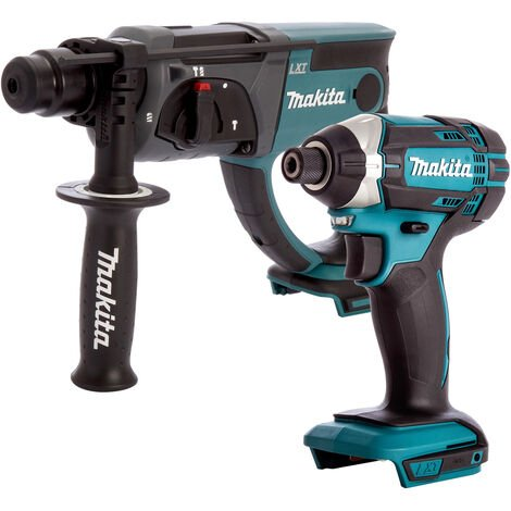 Makita 2 Piece 18V LXT Impact Driver & SDS Plus Hammer Drill Body Only