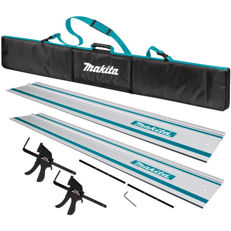 """main image of """"Makita 2 x 1.5m Guide Rail with Rail Bag + Connector + Clamp for Makita Plunge Saw"""""""