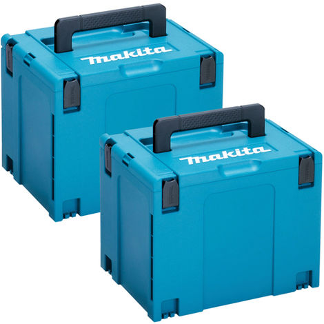 Makita 2 x 821552-6 Type 4 Makpac Connector Stacking X-Large Case No Inlay