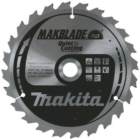 Makita 260mm x 30mm x 60T Circular Saw Blade B-09020 for LS1018 LS1013 LS1040