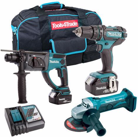 Makita 3 Piece 18V Li-ion Kit 2 x 5.0Ah Batteries & Charger T4TKIT-63:18V