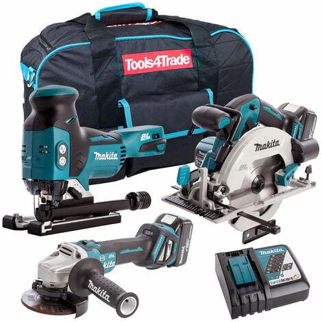 Makita 3 Piece 18V Li-ion Kit 2 x 5.0Ah Batteries & Charger T4TKIT-67:18V