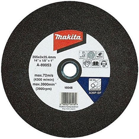 Makita 355 Mm Abrasive Chop Saw Wheels - Blue (pack Of 5)