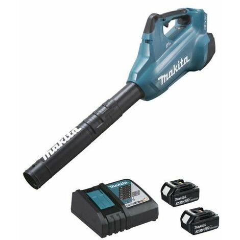 MAKITA 36V brushless blower - 2 baterías 3.0Ah 18V - 1 cargador rápido DC18RC DUB362RF2