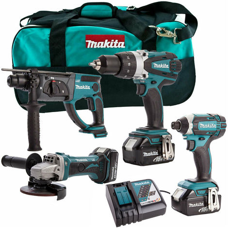 Makita 4 Piece 18V Li-ion Kit 3 x 4.0Ah Batteries & Charger MAKDEAL-69:18V
