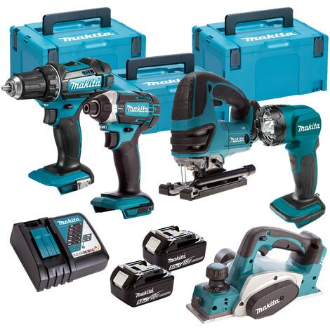 Makita 5 Piece Kit 18V Li-ion With 2x5Ah Batteries Charger T4TKIT-112:18V