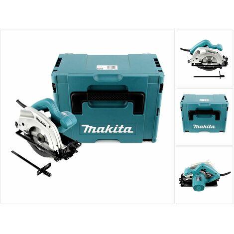 Makita 5604 R 950 W Scie circulaire avec 5000 tr/min jusqu'à 54 mm de hauteur de coupe + boîtier Makpac