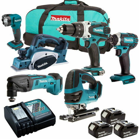 Makita 6 Piece 18V Li-ion Kit 3 x 4.0Ah Batteries MAKDEAL-48:18V