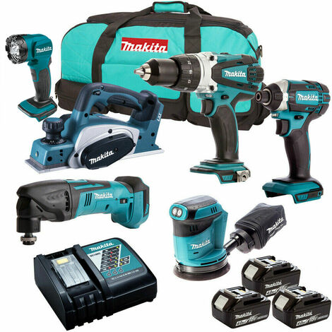 Makita 6 Piece 18V Li-ion Kit 3 x 4.0Ah Batteries MAKDEAL-49:18V