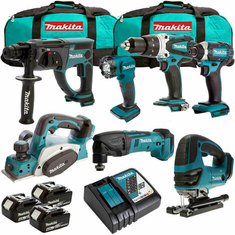 Makita 7 Piece 18V Li-ion Kit 3 x 4.0Ah Batteries MAKDEAL-51:18V