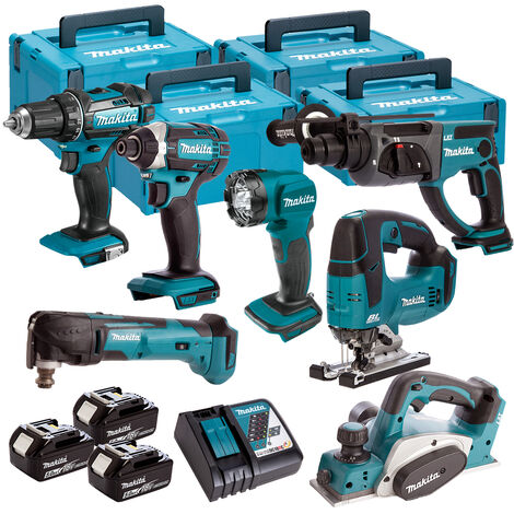 Makita 7 Piece Kit 18V Li-ion With 3x5Ah Batteries Charger T4TKIT-92:18V