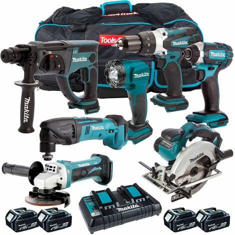 Makita 7 Piece Tool Kit 18V LXT 4 x 5.0Ah Batteries & Twin Port Charger T4TKIT-4317:18V