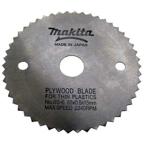 MAKITA 792259-0 - Disco de sierra de 85x15 z50 para plastico para modelo hs300d