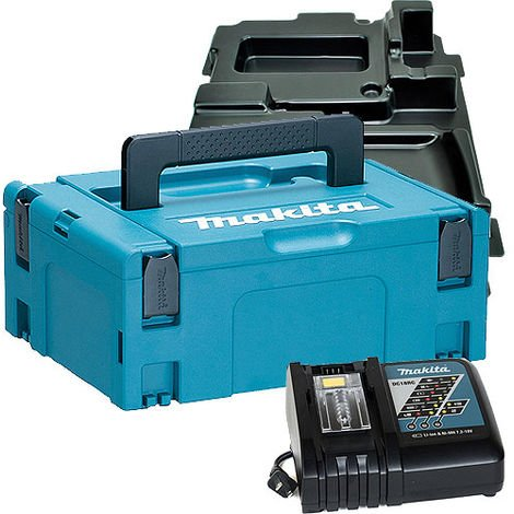Makita 821550-0 Stackable Case With DC18RC Charger & Inlays 837671-8
