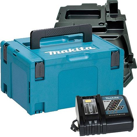 Makita 821551-8 Stackable Case With DC18RC Charger & Inlays 838182-6
