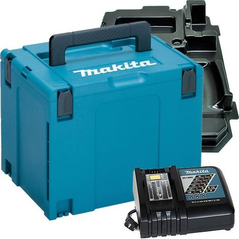 Makita 821552-6 Stackable Case With DC18RC Charger & Inlays 837649-1