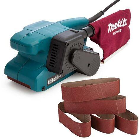 "Makita 9911 3"" 3 Inch 75 x 457mm Heavy Duty Corded 240v Belt Sander + Bag +Belts"