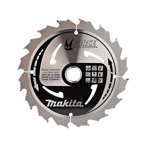 Makita B-07901 MForce Portable Saw Blade 165 x 20mm x 16T