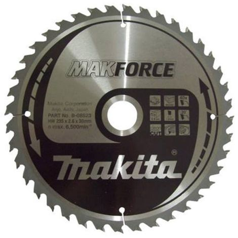 Makita 190 x 30 mm Force Circular Saw Blade Course Cut for Wood with 12 Tooth