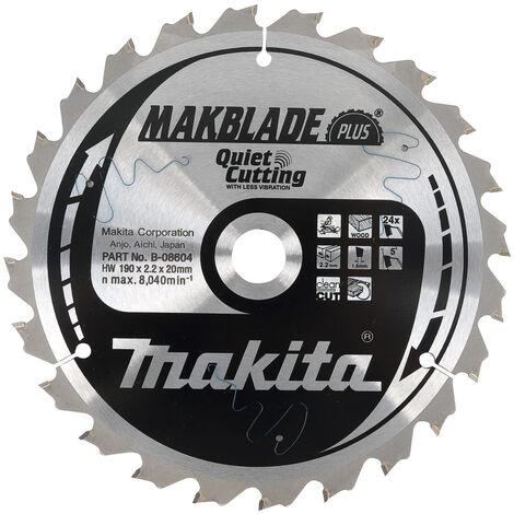 Makita B-08604 190mm x 20mm x 24T Plus Mitre Saw Blade