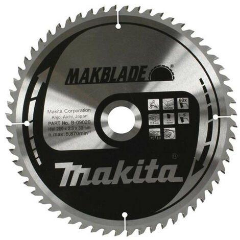 Makita B-09036 TCT Circular Blade For Mitre Saw 305 x 30mm 60T