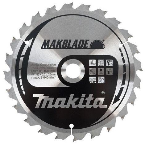 MAKITA B-09042 - Disco para ingletadora makblade 190x2 llanta 1.4 mm 60z 5 grados eje de 20