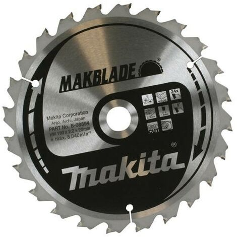 Makita B-09070 260mm x 30mm 80 Tooth MAKBLADE TCT Circular Saw Blade