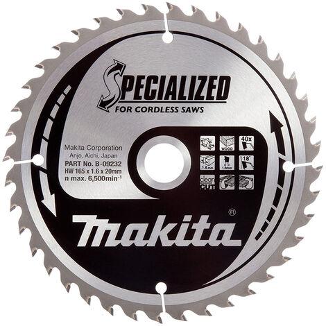 Makita B-09232 165mm x 20mm x 40T Wood Specialized Circular Saw Blade