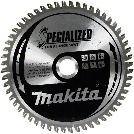 Makita B-09307 165mm x 20 x 56T Aluminium Specialized Plunge Saw Blade