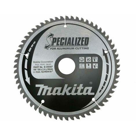 Makita B-09597 Lame de scie spécialisé-190x30x60T- Aluminium/Trespa/Matiere synthétique