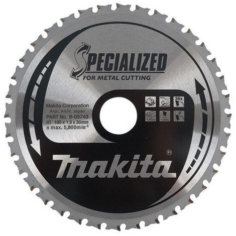 MAKITA B-09743 - Disco de hm de 185 mm 36 dientes para cortadora de metal 4131