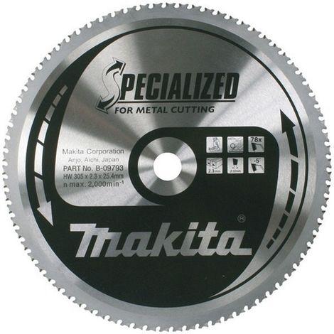 MAKITA B-09793 - Disco de hm de 305 mm 78 dientes para tronzadora de metal lc1230