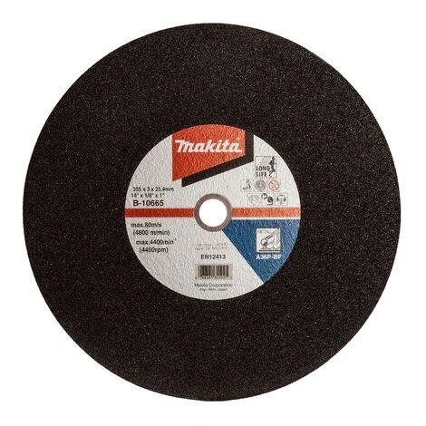 """main image of """"Makita B-10665 Abrasive Chop Saw Wheel Metal Cut 355mm x 3 x 25.4mm For 2414EN"""""""