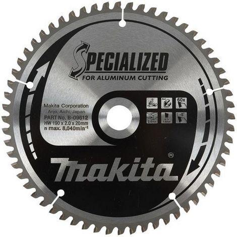 """main image of """"MAKITA B-12435 - Disco de sierra aluminio de 210x2.8 llanta 2 mm 54z -5 grados eje de 30 arandela reduccion 25"""""""