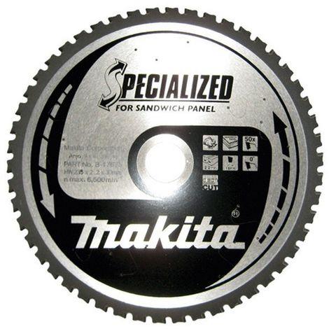 MAKITA B-17681 - Disco de sierra especial panel sandwich de 270x2.4 llanta 2 mm 60z - grados eje de 30