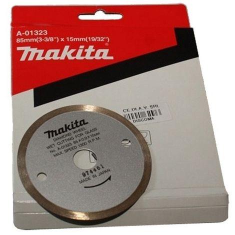 MAKITA B-21098 - Disco de diamante 85x15 cremallera corte rapido para azulejos granito marmol vidrio