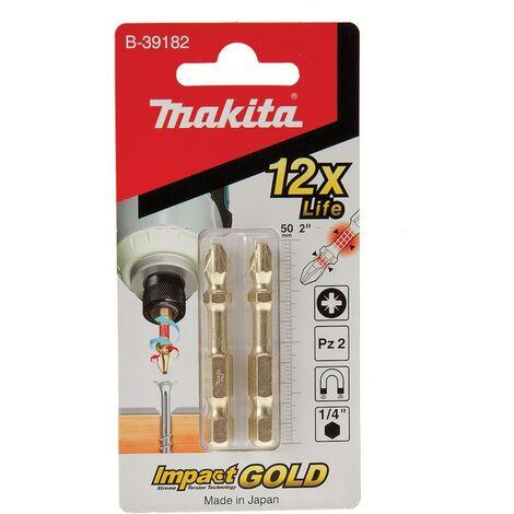 """Makita B-39182 50mmx1/4"""" PZ2 DOUBLE TORSION BIT"""