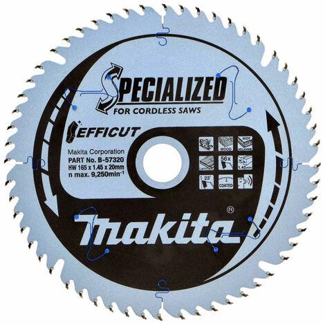Makita B-57320 Efficut Cordless 165mm 56T Plunge Saw Blade