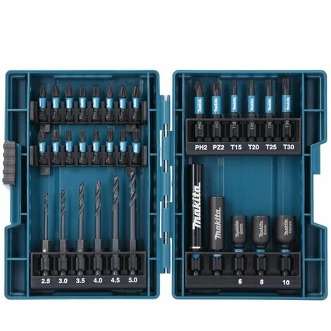 Makita B-66896 33 Piece Black Impact Torsion Screwdriver Bit Set High Durability